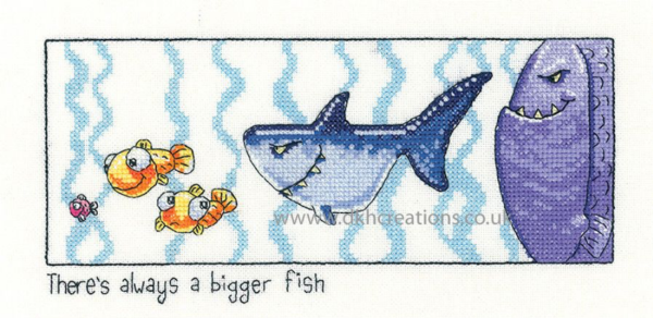 Always A Bigger Fish Cross Stitch Kit